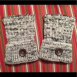 Gloves Hand Warmers Mittens Fingerless Cuffs White